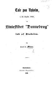 """Tale paa Nyholm, d. 25, Septbr. 1850, da Linieskibet """"Dannebrog"""" løb af Stabelen"""