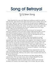 Song of Betrayal