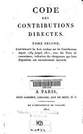 Code des contributions directes: Volume2