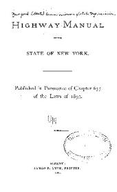 Highway Manual of the State of New York