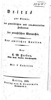 Beiträge zur Kenntniss des gewerblichen und commerciellen Zustandes der preussischen Monarchie