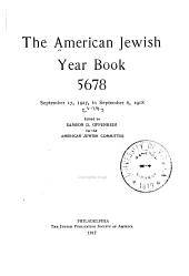 American Jewish Year Book: Volume 19