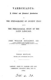Varronianus: a critical and historical introduction to the philological study of the Latin language