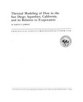 Thermal modeling of flow in the San Diego Aqueduct, California, and its relation to evaporation: Issues 1122-1126