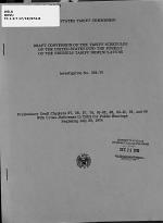 Draft Conversion of the Tariff Schedules of the United States Into the Format of the Brussels Tariff Nomenclature