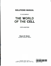 Solutions Manual to Accompany The World of the Cell PDF
