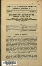 The Agricultural Outlook for the Southern States, 1930-31