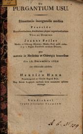 De purgantium usu: dissertatio inauguralis medica
