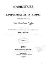 Commentaire sur l'Ordonnance de la marine du mois d'août 1681