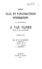 Eenige taal- en natuurkundige ontdekkingen van den hoogleeraar J. van Vloten ...