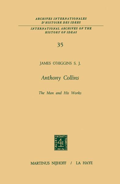 Download Anthony Collins The Man and His Works Book