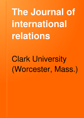 The Journal of International Relations: Volume 9