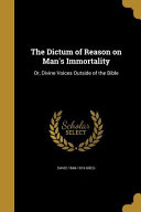 DICTUM OF REASON ON MANS IMMOR PDF