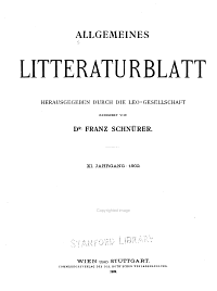 Allgemeines literaturblatt PDF