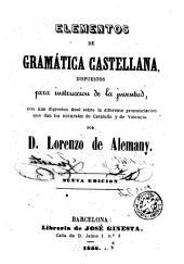 Elementos de gramática castellana
