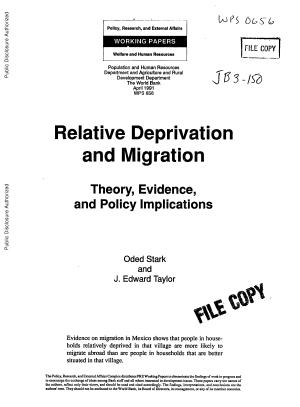 Relative Deprivation and Migration PDF