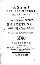 Synopsis primi tentaminis pro litteratura, scientiisque instaura ndis apud Lusitanos