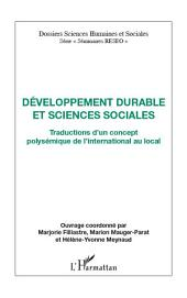 Développement durable et sciences sociales: Traductions d'un concept polysémique de l'international au local