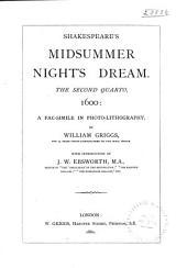 Shakespeare's Midsummer Night's Dream: The Second Quarto, 1600