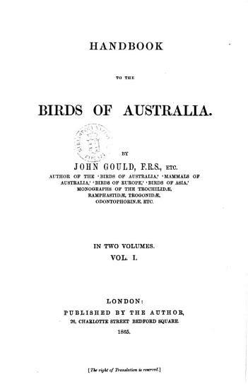 Handbook to the Birds of Australia by John Gould PDF