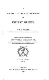 A History of the Literature of Ancient Greece: Volume 2