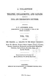A Collection of Treaties, Engagements, and Sanads Relating to India and Neighbouring Countries: Volume 7