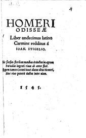 Homeri Odisseae: Liber Undecimus