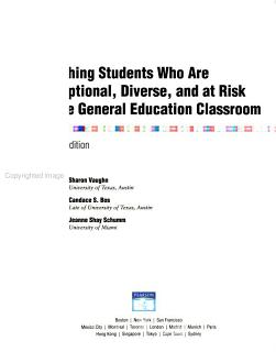 Teaching Students who are Exceptional  Diverse  and at Risk in the General Education Classroom Book