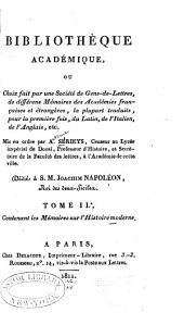 Bibliothèque académique; ou, Choix fait par une Société de Gens-de-Lettres: Volume 5