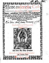 Newe außerlesene Collationes von der Mutter Gottes Maria
