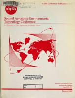 Second Aerospace Environmental Technology Conference PDF