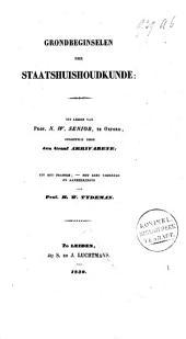 Grondbeginselen der staatshuishoudkunde