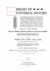 Library of Universal History Vol.XI
