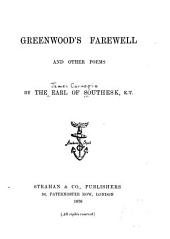 Greenwood's Farewell and Other Poems