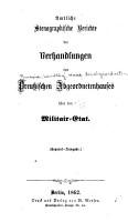 Amtliche stenographische Berichte der Verhandlungen des Preussischen Abgeordnetenhauses   ber den Militair Etat PDF