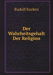Der Wahrheitsgehalt Der Religion