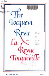 The Tocqueville Review PDF