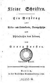 Ein Bentrag zur Bolker und Landerkunde, Naturgeschichte und Philosophie des Lebens