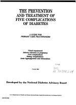 The Prevention and Treatment of Five Complications of Diabetes