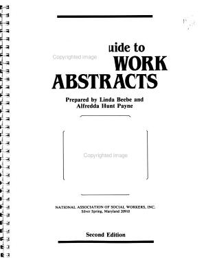 User s Guide to Social Work Abstracts