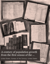 A Century of Population Growth from the First Census of the United States to the Twelfth, 1790-1900: Volume 900