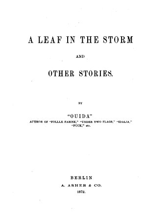 A Life in the Storm and other Stories