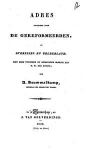 Adres ingediend door de gereformeerden, in Overyssel en Gelderland