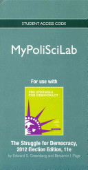New Mypoliscilab    Standalone Access Card    For the Struggle for Democracy  2012 Election Edition PDF