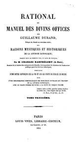 Raisons mystiques et historiques de la liturgie catholique