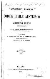 Annotazioni practiche al Codice civile austriaco