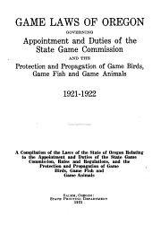 Game Laws of Oregon