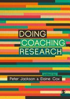Doing Coaching Research PDF