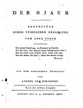 Der Gjaur: Bruchstück einer Türkischen Erzählung, Ausgabe 5111