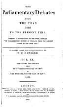 The Parliamentary Debates from the Year 1803 to the Present Time:: 13